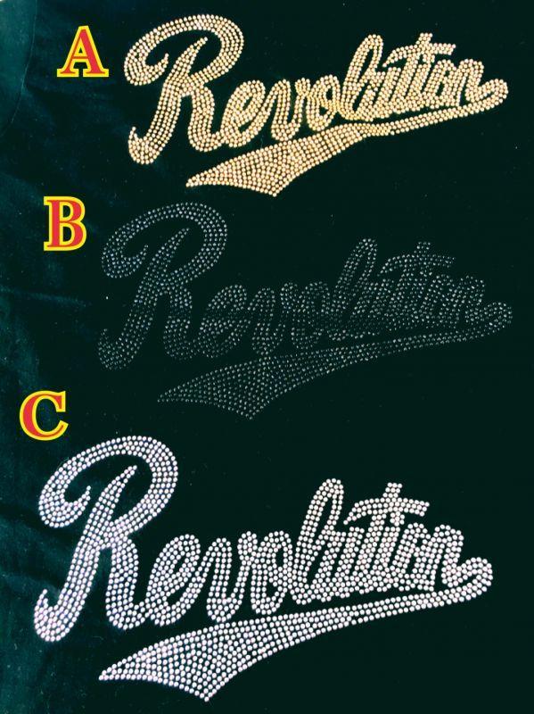 画像2: 【SALE!!】RevolutionTシャツ(ラインストーンver.)