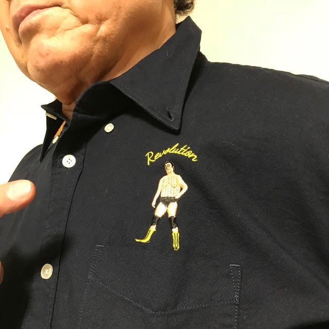 画像4: 天龍×ハオミン 刺繍ボタンダウンシャツ
